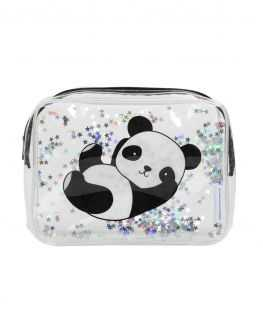 Trousse de toilette Panda paillettes