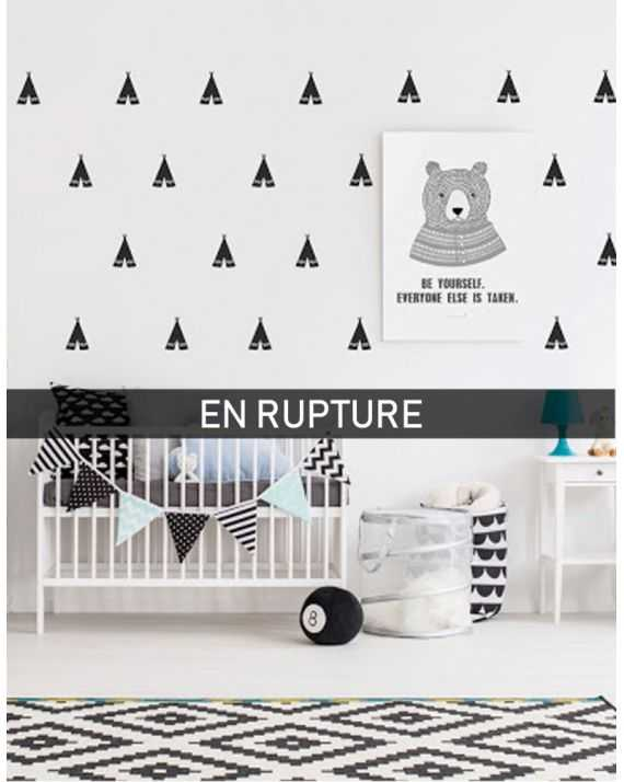 Stickers muraux tipis noirs