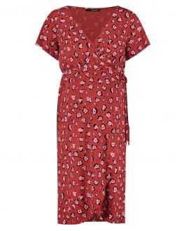Robe de grossesse rouge Flowers