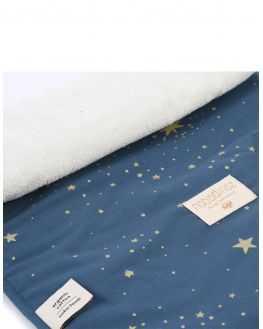 Tapis à langer nomade bleu nuit étoiles