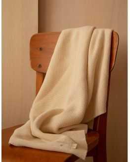 Couverture tricot naturel 70*90 cm
