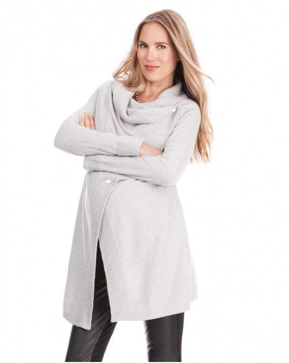 Cardigan grossesse gris  - Denise