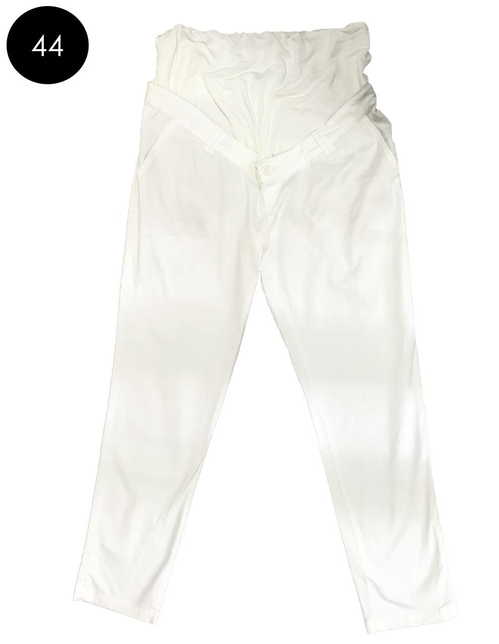 Pantalon grossesse blanc en coton sergé d occasion 73533f542f1