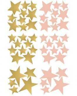 Stickers étoiles or et rose poudré
