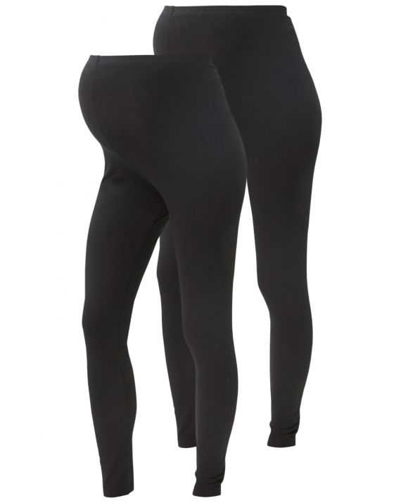 Leggings grossesse longs noirs - Pack de 2