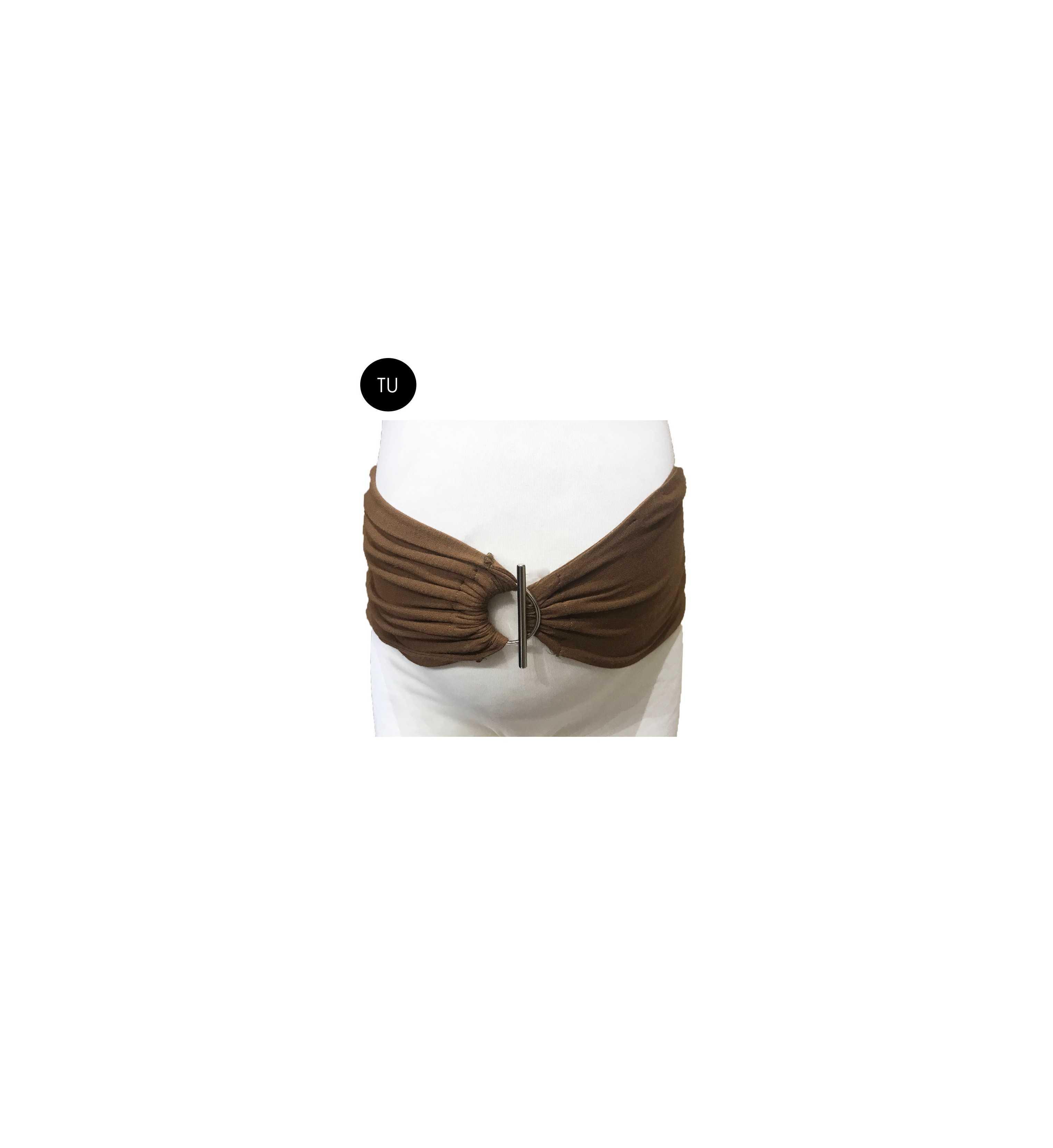 Bandeau maternité marron avec boucle