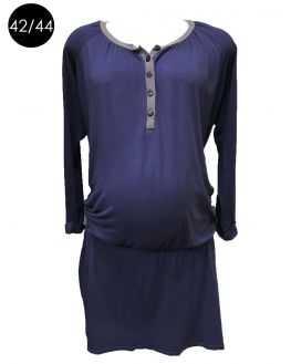 Robe grossesse bleue forme blousante