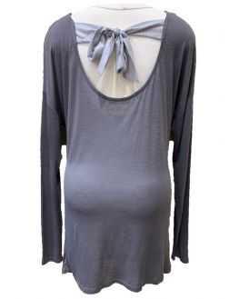 Tunique grossesse noeud irrisé dos