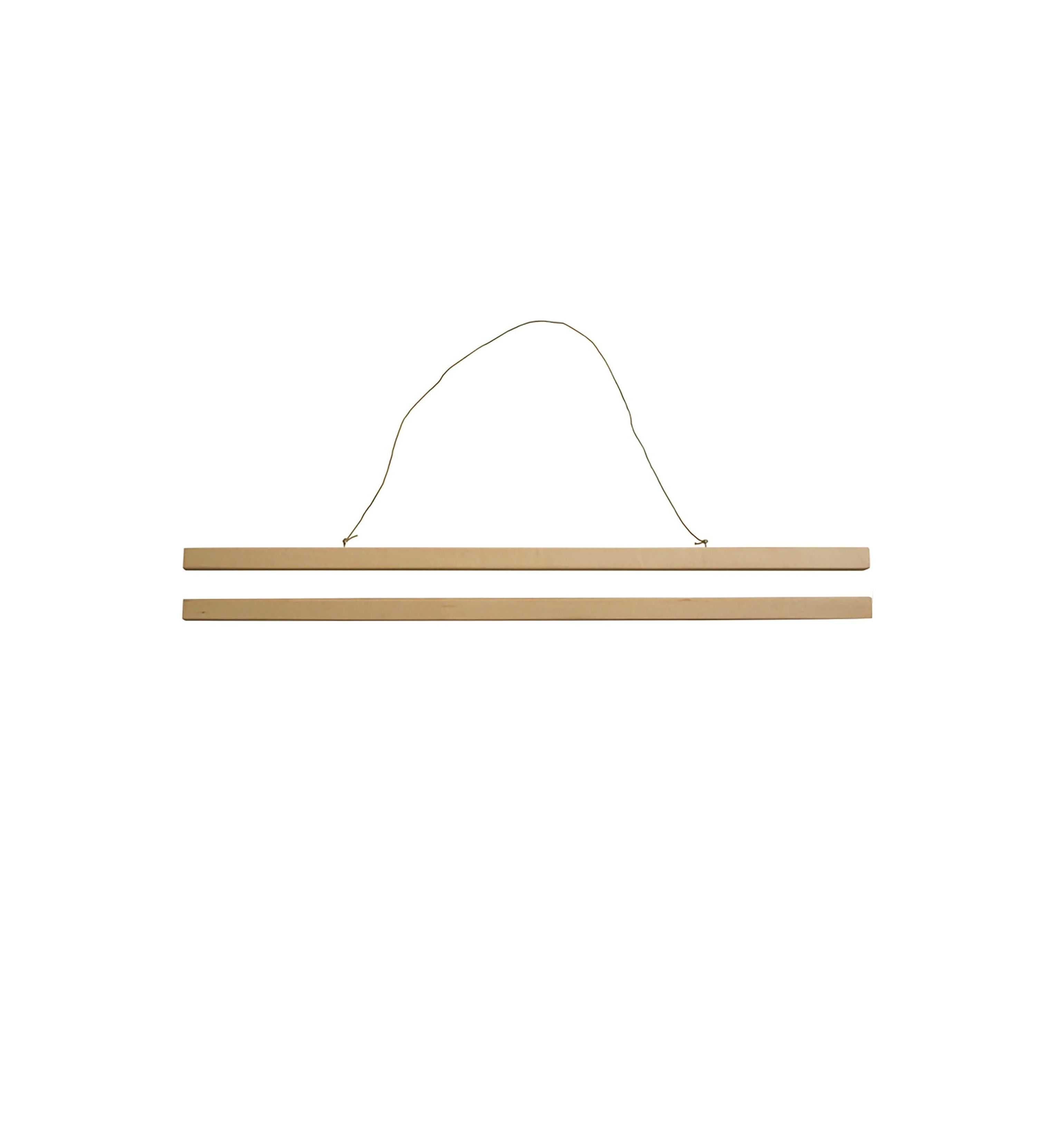 Porte affiche bois système aimanté 50*70cm